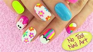 Diy nail art without any tools designs