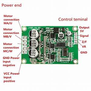 Dc 12v 24v 36v 500w Brushless Motor Drive Board Balanced