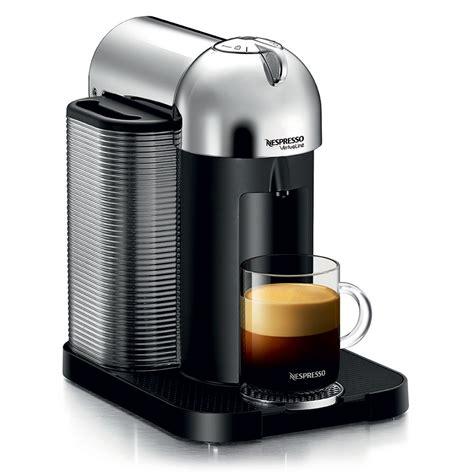espresso and coffee maker nespresso vertuoline coffee espresso maker chrome cutleryandmore com