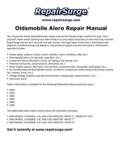 free download parts manuals 1999 oldsmobile alero user handbook oldsmobile alero repair manual 1999 2004
