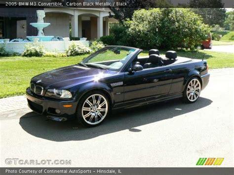 2005 Bmw M3 Convertible by Carbon Black Metallic 2005 Bmw M3 Convertible Black