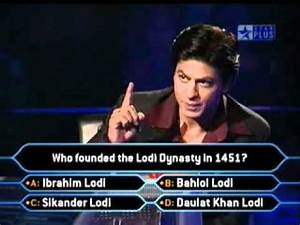 KBC 3 - Hilarious Contestant Wid Shahrukh Khan - So Funny ...
