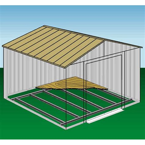 10x14 arrow shed assembly solve arrow buildings universal floor frame for storage