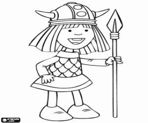 coloriage vic le viking ou vicky le viking  imprimer