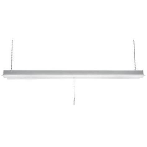 workshop lights home depot commercial electric 4 ft led white shop light 54103161