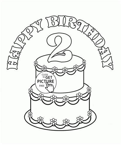 birthday cake coloring page  kids holiday coloring