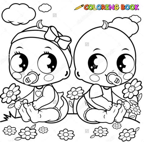 baby coloring pages  twln