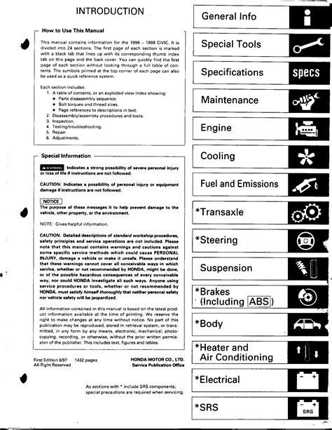 Honda Civic (96 98) Service Manual.pdf - Honda Civic