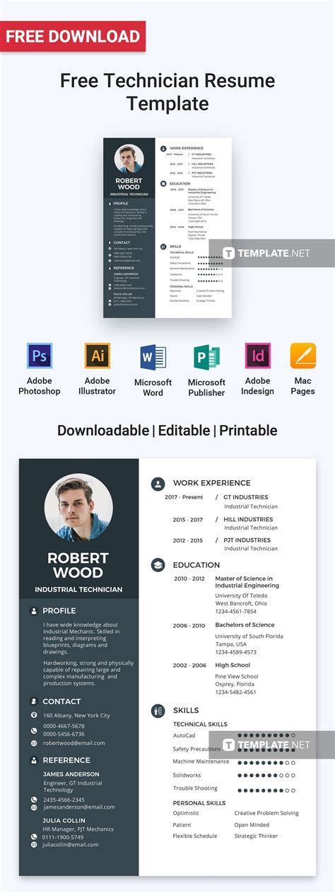 Microsoft Office Resume Maker by Free Technician Resume Activities