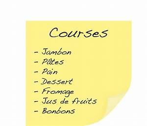 Listes De Courses : courses ~ Nature-et-papiers.com Idées de Décoration