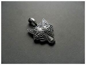 Tatouage Loup Celtique : silver wolf head necklace pendant celtic jewelry pinterest collier argent celtique et loups ~ Farleysfitness.com Idées de Décoration