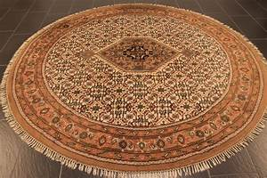 9grand tapis rond kashmir With grand tapis rond