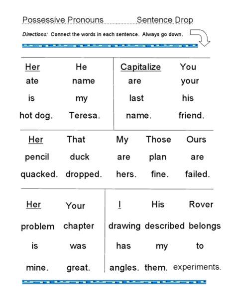 all worksheets 187 possessive pronouns worksheets grade 3