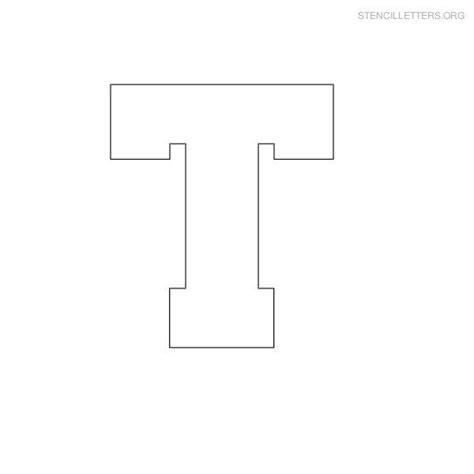 block letter i free printable block letter stencils stencil letters t 43788