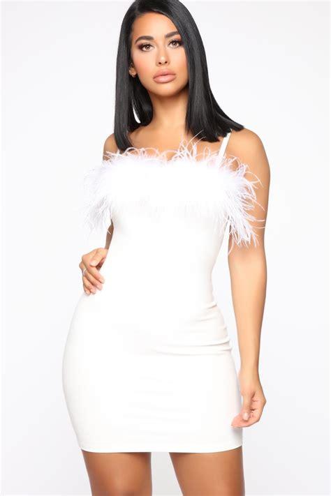 draya michele slayed   white fashion nova mini dress