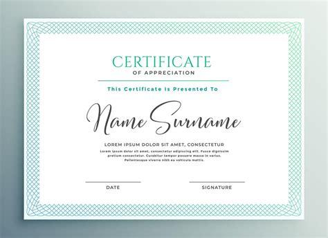 certificate  appreciation  templates study