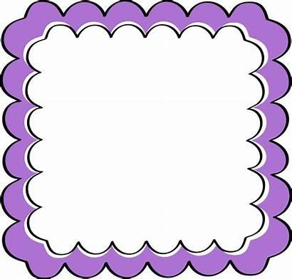 Border Frames Borders Clip Purple Frame Scalloped