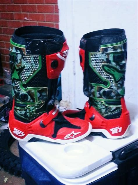 personalized motocross gear custom painted boots moto related motocross forums