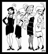 Flappers Flapper 1920s Gypsy Deviantart Sketches Crispy Template Coloring Pages sketch template