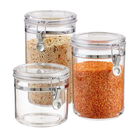 container cuisine hermetic acrylic canisters the container store