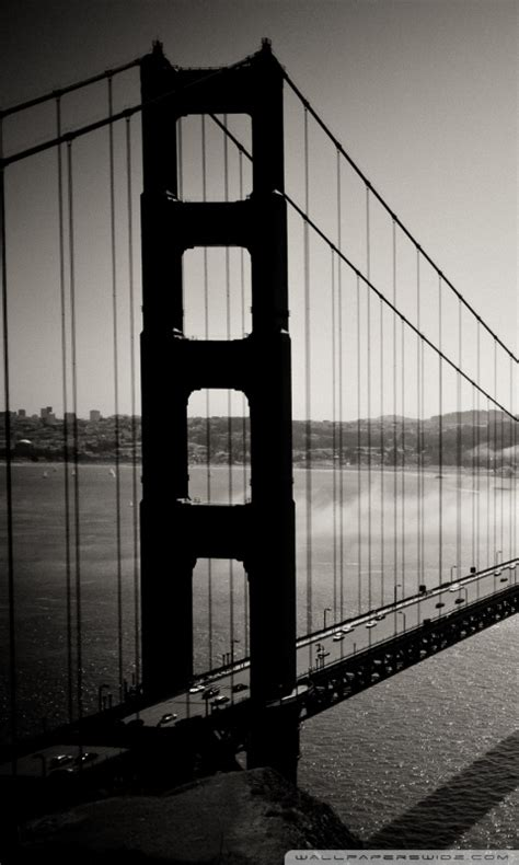 golden gate bridge black  white  hd desktop wallpaper