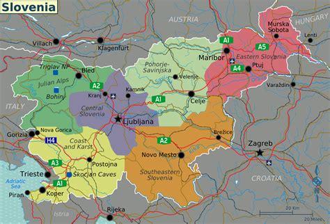 Carte Nord Ouest Détaillée by Fichier Slovenia Regions Map Png Wikip 233 Dia