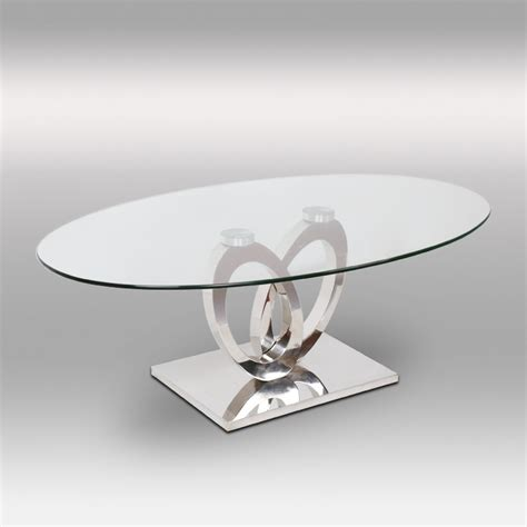 canape d angle 2 places table basse inox et verre ellipse