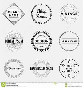 set of retro vintage badges and label logo graphics stock With create business labels