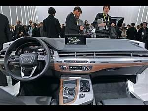 Audi Q7 Interieur : audi q7 interieur 2015 innenraum auf der ces ~ Nature-et-papiers.com Idées de Décoration