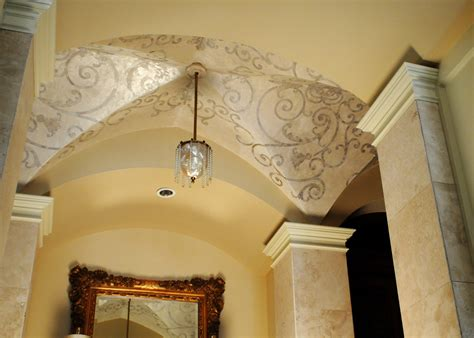 Barrel Groin Vaulted Ceilings by Ceiling Finishes On Gold Leaf Gold Ceiling