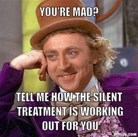 Silent Treatment Meme - read the gift of the silent treatment by kim saeed survivor of narcissistic abuse specializing