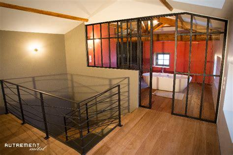 chambre verriere verrière séparative entre chambre et salle de bains