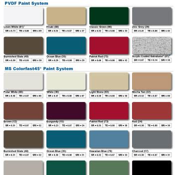mbci color chart cupola kit color charts cupolas for roofs and barns