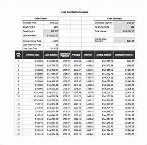 excel loan amortization schedule download printable With monthly amortization schedule excel template