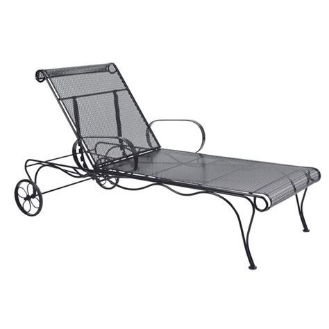 woodard tucson wrought iron adjustable chaise lounge 1g0070