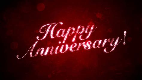 happy anniversary  red hd background loop youtube