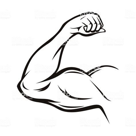 Black Thin Line Strong Arm Vector Stock Vector Art & More
