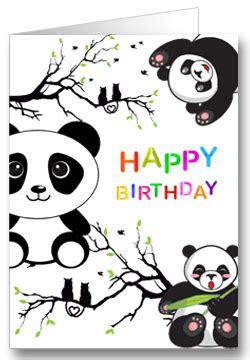 geburtstagskarte fuer kinder panda office lernencom