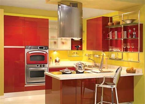 Unique Kitchen Designs With Bold Color Scheme-rilane
