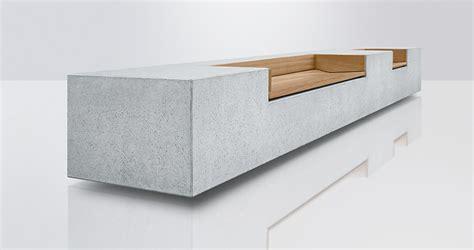 betonbank mit holzauflage betonbank concreta runge