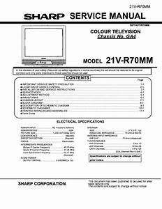 Sharp 21v R70mm Diagram