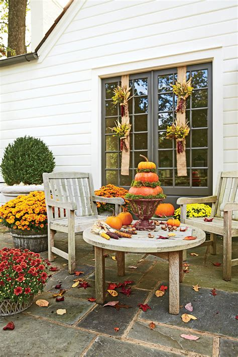 Backyard Decoration by Fall Decorating Ideas Southern Living
