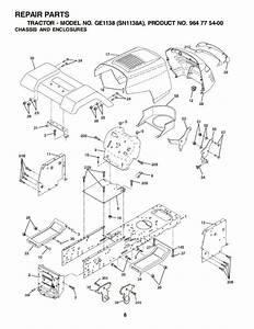 Weed Eater Ge1138 Sn1138a Lawn Tractor Repair Manual  2002