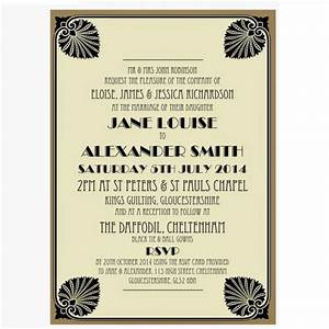 black and gold art deco wedding invitation With black and gold wedding invitations uk