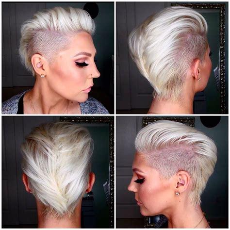 iro fuer frauen kurz undercut platinblond hairstyles