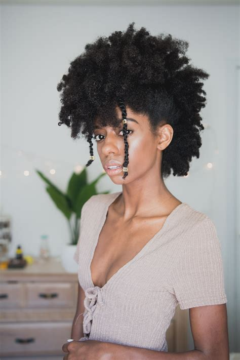 Frohawk on 4c natural hair PrettyLittleFro Natural