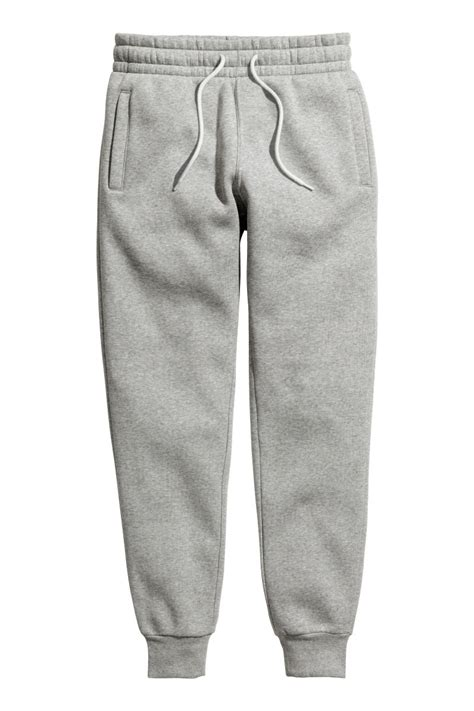jogger womens sweatpants gray melange h m us