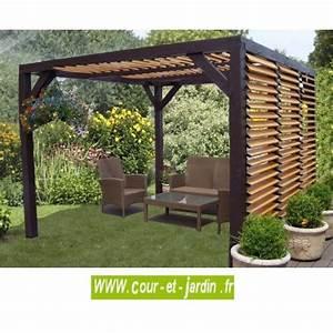 pergola bois ou auvent bois veneto a ventelles tonnelle bois With auvent de jardin en toile