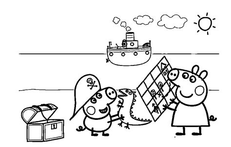 Peppa Pig Coloring Pages Free Coloring Home