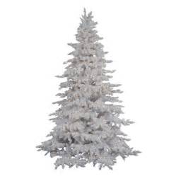 shop vickerman 4 ft 6 in 498 tip pre lit white spruce flocked artificial christmas tree with 250